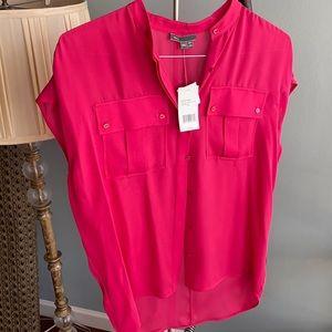 Vince silk blouse pink